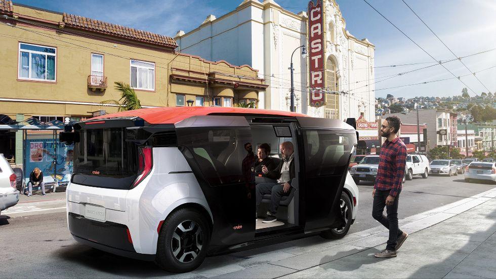 General Motors visar upp förarlös skyttelbuss – Cruise Origin