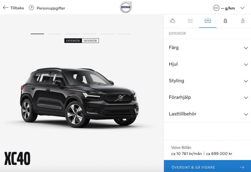 Volvo öppnar bilbyggaren för elbilen Volvo XC40 Recharge