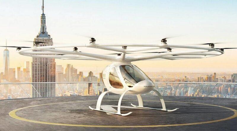 Volocopters flygande taxi i drift inom tre år