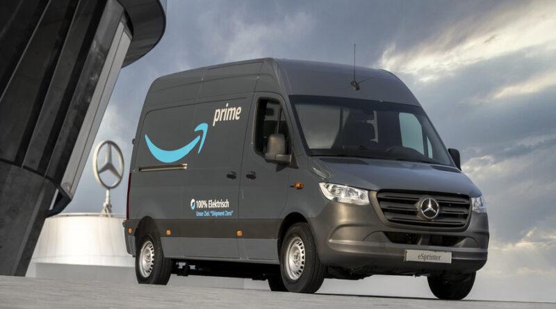 Amazon köper 1800 eldrivna transportbilar av Mercedes-Benz