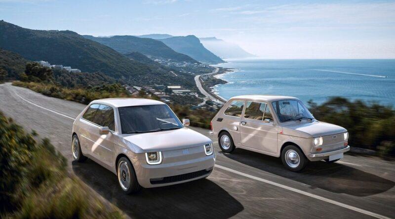 Fiat 126 visualiserad som elbil