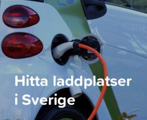 Hitta laddplatser i Sverige