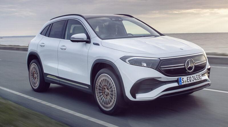 Världspremiär: Här är Mercedes nya elbil EQA