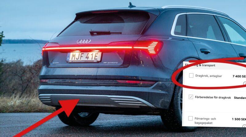Dyrt att eftermontera dragkrok på Audi e-tron – kostar 25 000