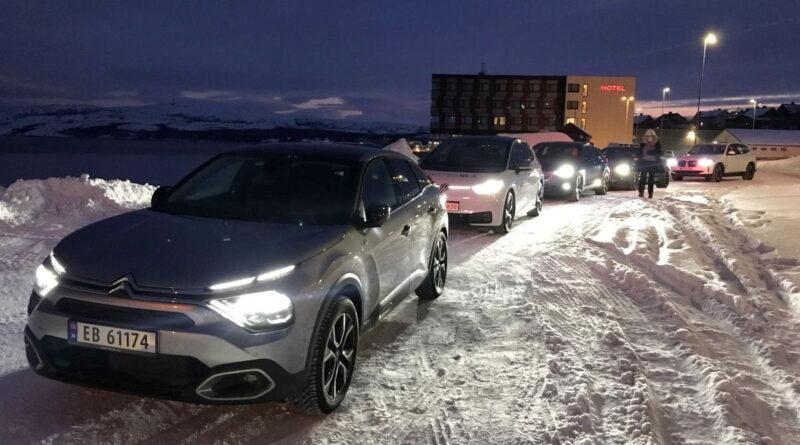 Världens nordligaste elbilstest i vinterklimat startade idag